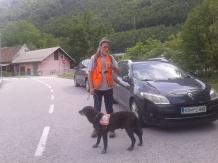 Miran Tišler - Vozk (inštruktor za delo reševalnih psov, aktivni vodnik) in Reks (IRP-PO1, IRP-PO2)